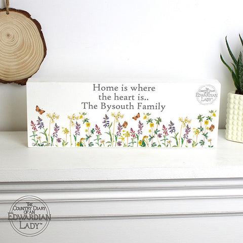 Buy Personalised Country Diary Wild Flowers Mantel Block