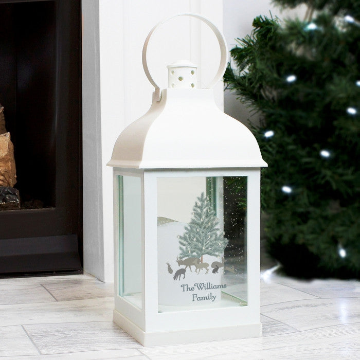 Buy Personalised A Winter's Night White Lantern
