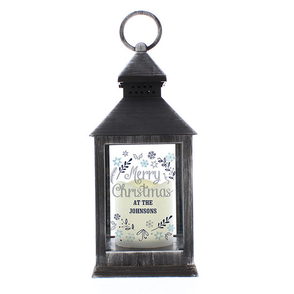 personalised-christmas-frost-black-lantern