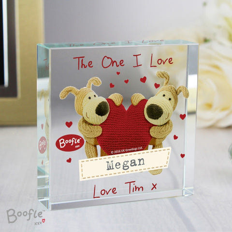 Personalised Boofle Shared Heart Large Crystal Token | ShaneToddGifts.co.uk