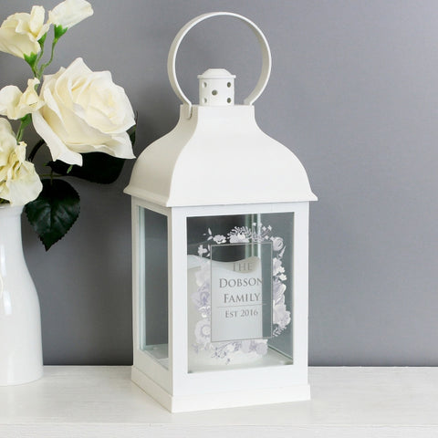 Personalised Soft Watercolour White Lantern - Shane Todd Gifts UK