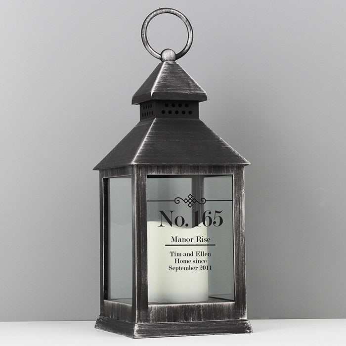 Buy Personalised Elegant Diamond Black Lantern