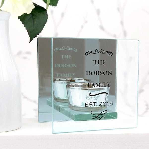 personalised-antique-scroll-mirrored-glass-tea-light-holder