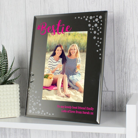 Personalised Bestie 5x7 Mirrored Glass Photo Frame | ShaneToddGifts.co.uk