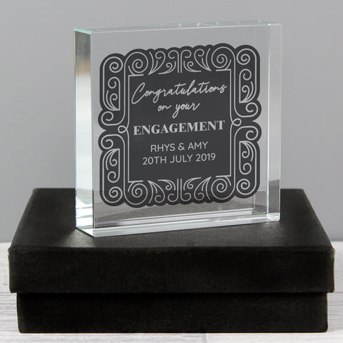 Personalised Congratulations Crystal Token