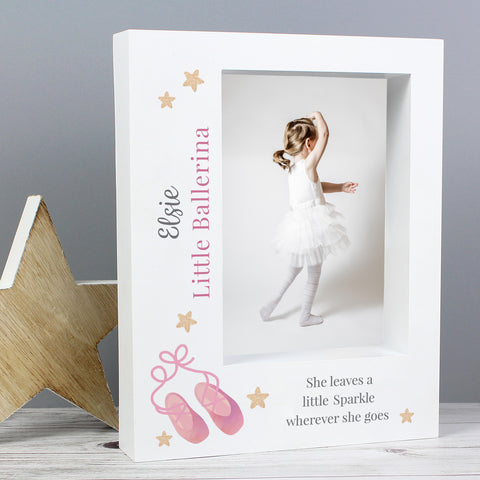 Personalised Swan Lake Ballet 5x7 Box Photo Frame