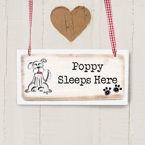 Buy Personalised Dog Wooden Sign