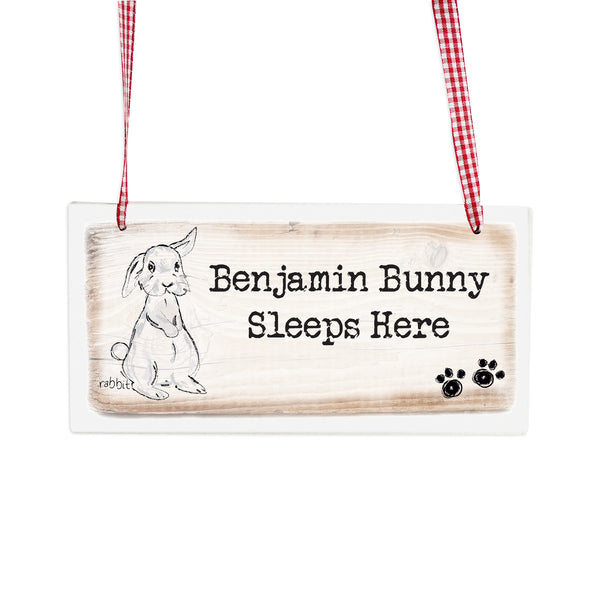 Personalised Rabbit Wooden Sign