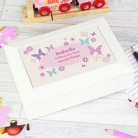Buy Personalised Butterfly Jewellery Box