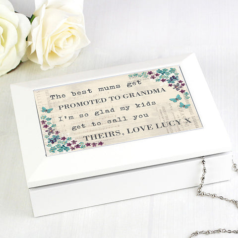 Buy Personalised Forget me not Jewellery Box
