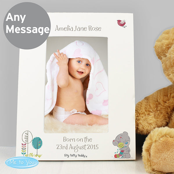 personalised-tiny-tatty-teddy-cuddle-bug-white-6x4-frame
