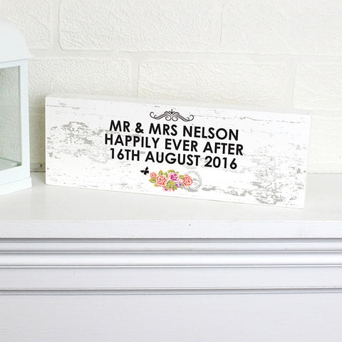 Buy Personalised Shabby Chic Mantel Block