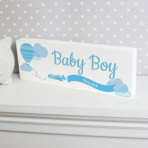 Buy Personalised Up & Away Boys Mantel Block