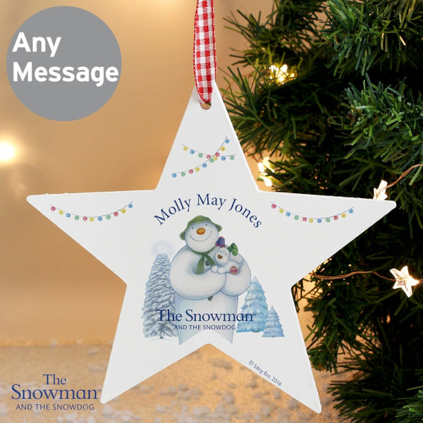 personalised-the-snowman-and-the-snowdog-wooden-star-decoration