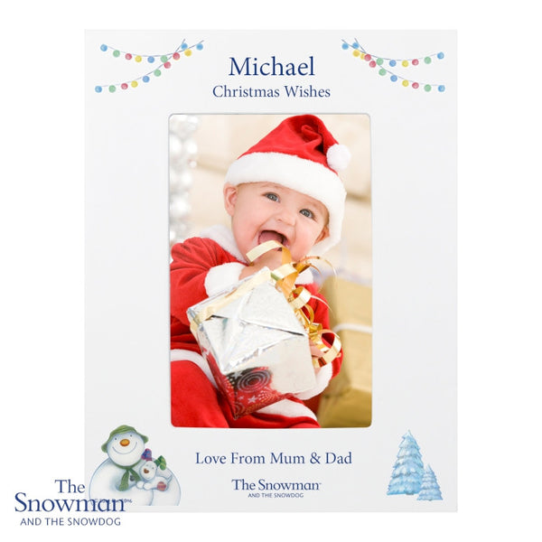 personalised-the-snowman-and-the-snowdog-white-6x4-photo-frame