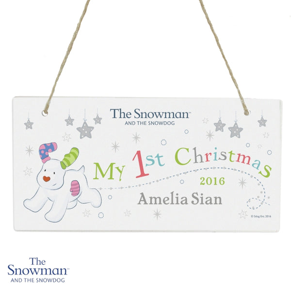 personalised-the-snowman-and-the-snowdog-my-1st-christmas-wooden-sign