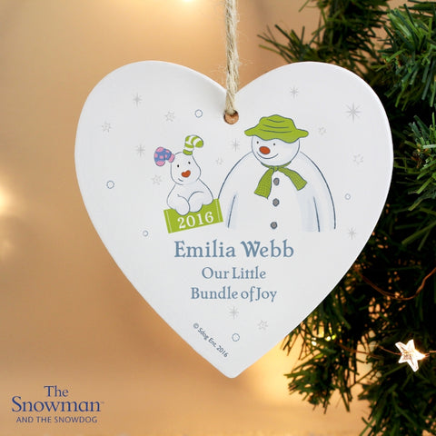 Buy Personalised The Snowman and the Snowdog My 1st Christmas Heart Decoration
