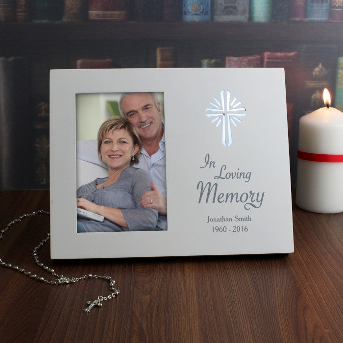 Personalised Sentiments Cross 6x4 Light Up Frame