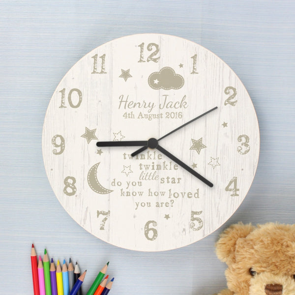 personalised-twinkle-twinkle-shabby-chic-large-wooden-clock