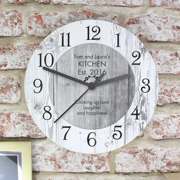 personalised-any-message-shabby-chic-large-wooden-clock