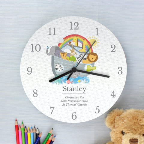 Personalised Noah's Ark Clock | ShaneToddGifts.co.uk