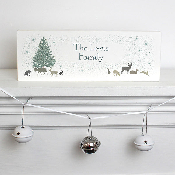 Personalised A Winter's Night Mantel Block