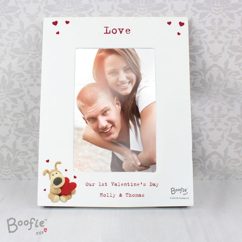 Buy Personalised Boofle Shared Heart White 4x6 Photo Frame