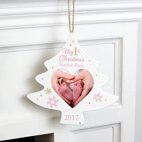 personalised-pink-my-1st-christmas-tree-photo-frame-decoration