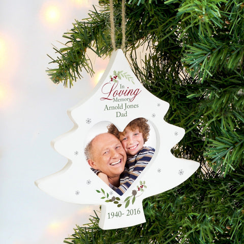 Personalised In Loving Memory Tree Photo Frame Decoration | ShaneToddGifts.co.uk