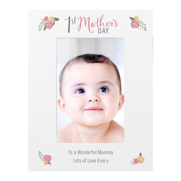 personalised-floral-bouquet-1st-mothers-day-6x4-photo-frame
