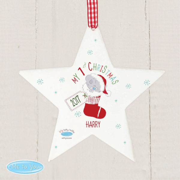 personalised-tiny-tatty-teddy-my-1st-christmas-stocking-wooden-star-decoration