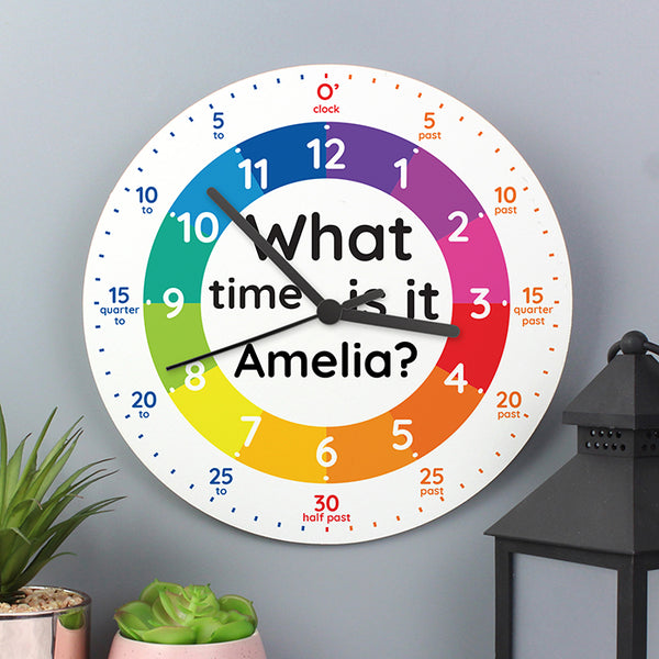 personalised-what-time-is-it-wooden-clock