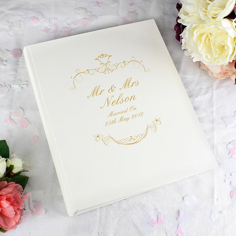 Buy Personalised Gold Ornate Swirl Traditional Album