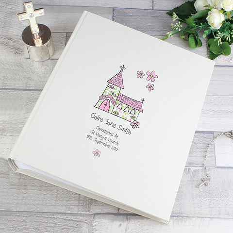 Buy Personalised Whimsical Pink Church Album with Sleeves