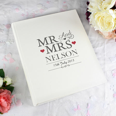 Buy Personalised Mr & Mrs Traditional Album