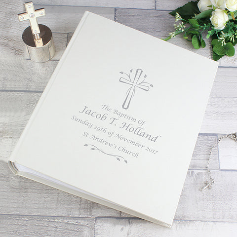 Buy Personalised Silver Cross Album with Sleeves
