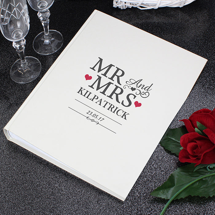 Personalised Mr And Mrs Album With Sleeves Gifts24 7couk