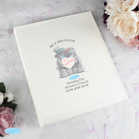 Personalised Me To You Wedding Album with Sleeves - Shane Todd Gifts UK