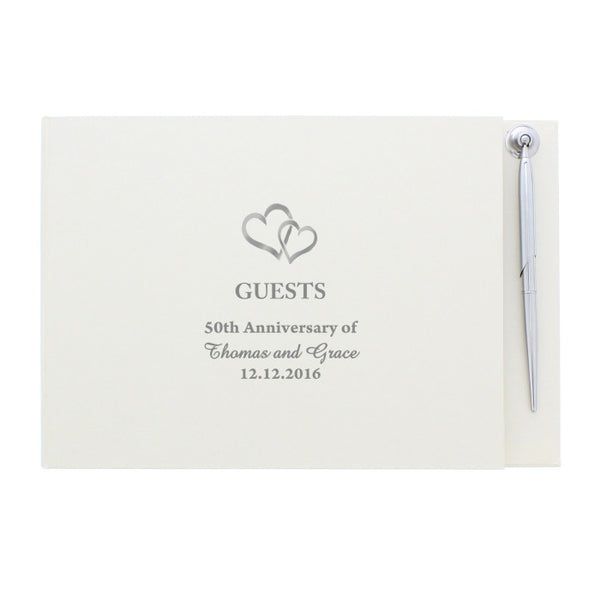 personalised-hardback-guest-book-pen-hearts-design