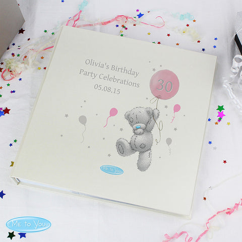 Personalised Me To You Pink Balloon Album with Sleeves - Shane Todd Gifts UK