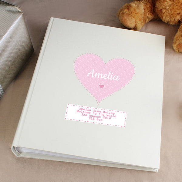 Personalised Stitch & Dot Girls Album with Sleeves