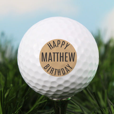 Personalised Happy Birthday Golf Ball