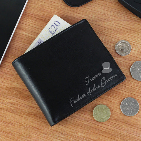 Personalised Top Hat LeatHer Wallet - Shane Todd Gifts UK