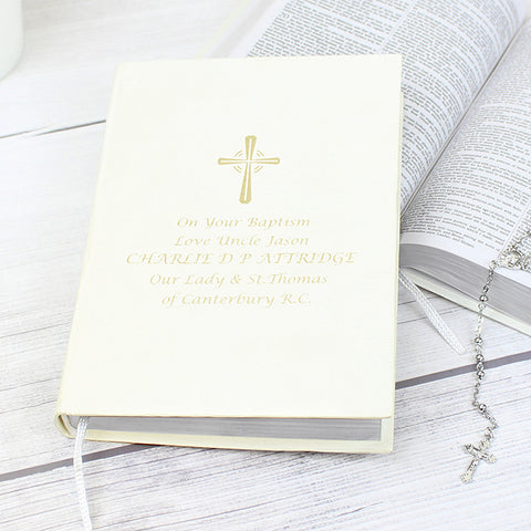 Buy Personalised Gold Companion Holy Bible - Eco-friendly