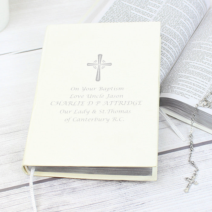 Personalised Silver Companion Holy Bible - Eco-friendly, Religious Items by Gifts24-7
