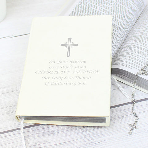 Buy Personalised Silver Companion Holy Bible - Eco-friendly