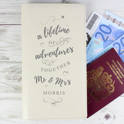 Personalised A Lifetime Of... Travel Document Holder - Shane Todd Gifts UK