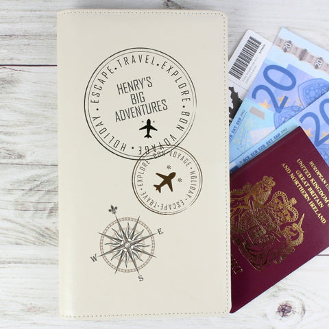 Personalised Travel Stamp Travel Document Holder - Shane Todd Gifts UK