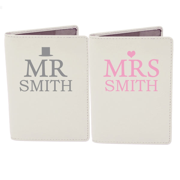 personalised-mr-mrs-top-hat-cream-passport-holders