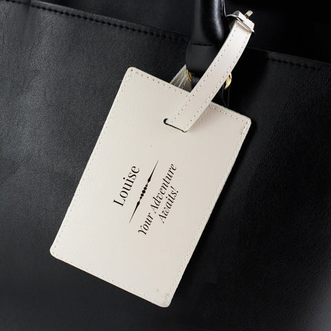 Buy Personalised Classic Cream Luggage Tag